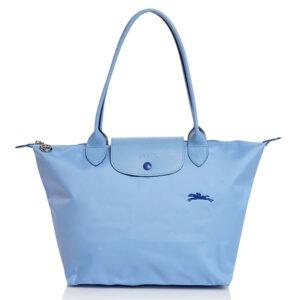Longchamp Club 長柄 細購物包 藍色 (P38)