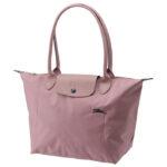 Longchamp Club 長柄 細購物包 藕粉色 (P44)