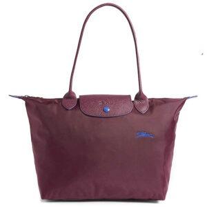 Longchamp Club 長柄 細購物包 梅紅色 (P22)