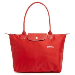 Longchamp Club 長柄 細購物包 朱紅色 (P20)