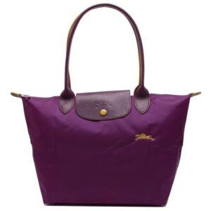 Longchamp Club 長柄 細購物包 紫羅蘭色 (P21)