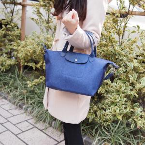 Longchamp NÉO 兩用系列 細手袋 丹寧布藍 (087)