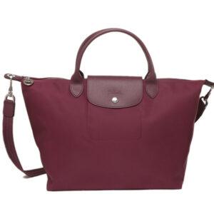 Longchamp NÉO 兩用系列 中手袋 黑醋栗色 (745)