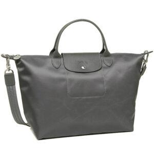 Longchamp NÉO 兩用系列 中手袋 灰色 (112)