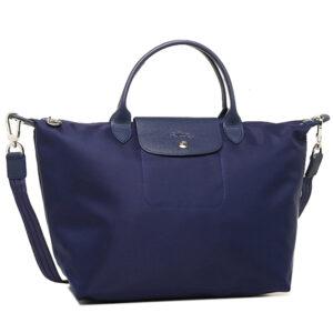 Longchamp NÉO 兩用系列 中手袋 海軍藍 (006)
