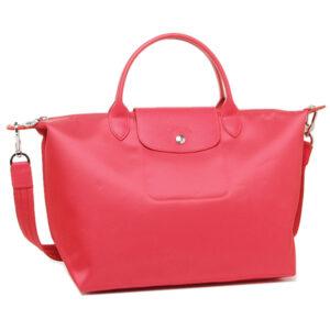 Longchamp NÉO 兩用系列 中手袋 牡丹粉 (A27)