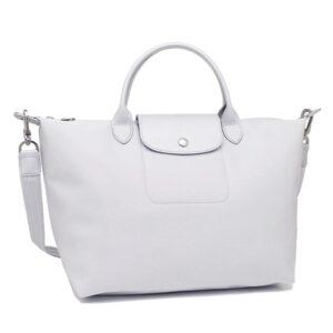 Longchamp NÉO 兩用系列 中手袋 銀色 (023)
