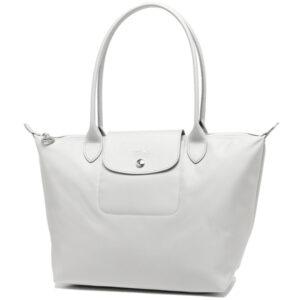 Longchamp NÉO 細購物包 銀色 (023)