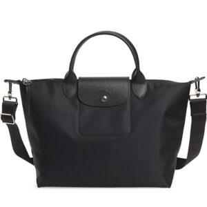 Longchamp NÉO (2020) 兩用系列 中手袋 黑色 (001)