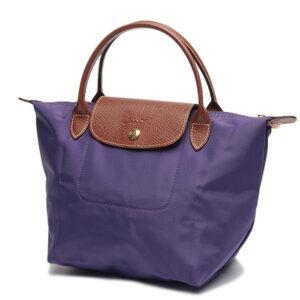 Longchamp 短柄 細手提袋 水晶紫 (958)
