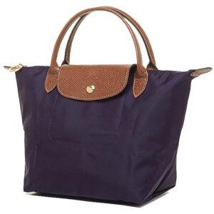 Longchamp 短柄 細手提袋 紫色 (645)