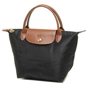Longchamp 短柄 細手提袋 黑色 (001)