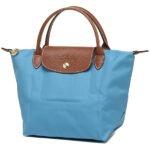 Longchamp 短柄 細手提袋 藍色 (807)