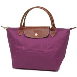 Longchamp 短柄 細手提袋 大麗花色 (P10)