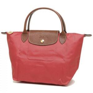 Longchamp 短柄 細手提袋 無花果 (P16)