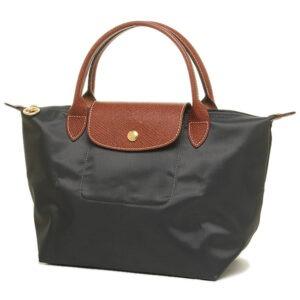 Longchamp 短柄 細手提袋 鐵灰色 (300)