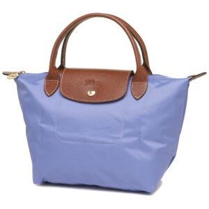 Longchamp 短柄 細手提袋 薰衣草 (B40)