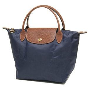 Longchamp 短柄 細手提袋 海軍藍色 (556)