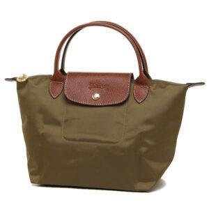 Longchamp 短柄 細手提袋 卡其色 (A23)