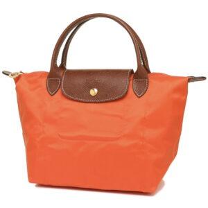 Longchamp 短柄 細手提袋 橙色 (B44)