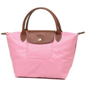Longchamp 短柄 細手提袋 粉紅 (P03)