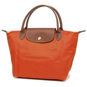 Longchamp 短柄 細手提袋 番紅花 (D93)