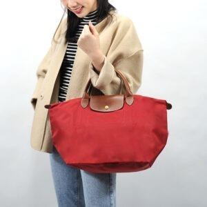 Longchamp 短柄 中手提袋 胭脂紅 (545)