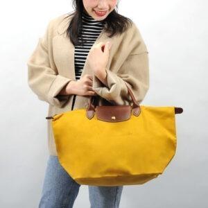 Longchamp 短柄 中手提袋 陽光黃 (620)