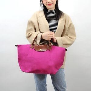 Longchamp 短柄 中手提袋 紫紅色 (653)