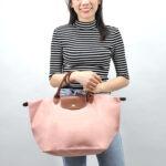 Longchamp 短柄 中手提袋 玫瑰色 (A26)