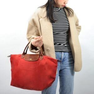 Longchamp 短柄 中手提袋 磚紅色 (A29)