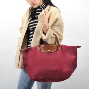 Longchamp 短柄 中手提袋 石榴紅 (C87)