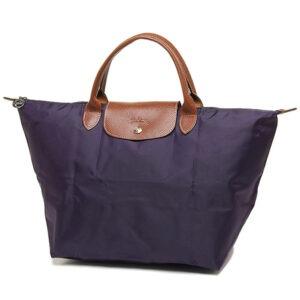 Longchamp 短柄 中手提袋 紫色 (645)