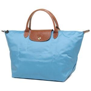 Longchamp 短柄 中手提袋 海水藍 (807)