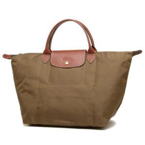 Longchamp 短柄 中手提袋 卡其色 (A23)