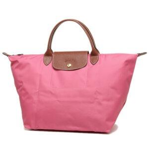 Longchamp 短柄 中手提袋 牡丹粉 (A27)