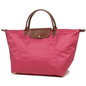 Longchamp 短柄 中手提袋 粉紅色 (C88)
