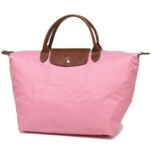 Longchamp 短柄 中手提袋 粉紅 (P03)