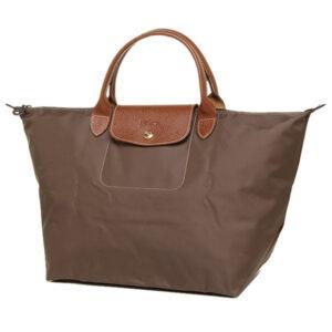 Longchamp 短柄 中手提袋 大地色 (C95)