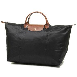 Longchamp 短柄 大旅行包 黑色 (001)