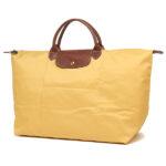 Longchamp 短柄 大旅行包 咖喱色 (C91)