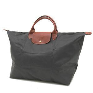 Longchamp 短柄 大旅行包 鐵灰色 (300)