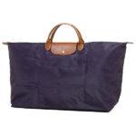 Longchamp 短柄 特大旅行包 紫色 (645)