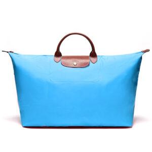 Longchamp 短柄 特大旅行包 藍色 (807)