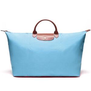Longchamp 短柄 特大旅行包 淡藍色 (C50)