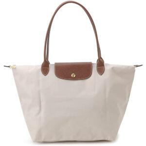 Longchamp 長柄 大購物包 紙白色 (555)