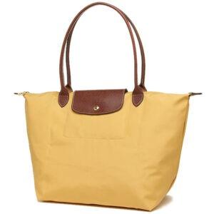 Longchamp 長柄 大購物包 咖喱色 (C91)