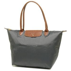 Longchamp 長柄 大購物包 鐵灰色 (300)