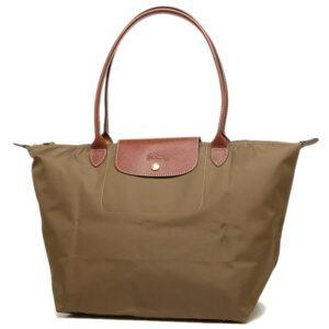 Longchamp 長柄 大購物包 卡其色 (春) (A23)