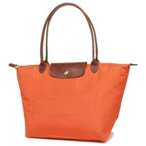 Longchamp 長柄 大購物包 橙色 (B44)